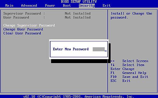сброс пароля в биос bios