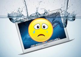 ремонт ноутбука после залития жидкостью