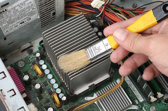 чистка от пыли компьютер